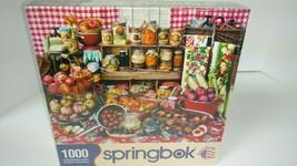 1000pc Springbok Jigsaw Puzzle Pre-Serves - Fruits Jam Jelly Jars - New & Sealed - $19.86