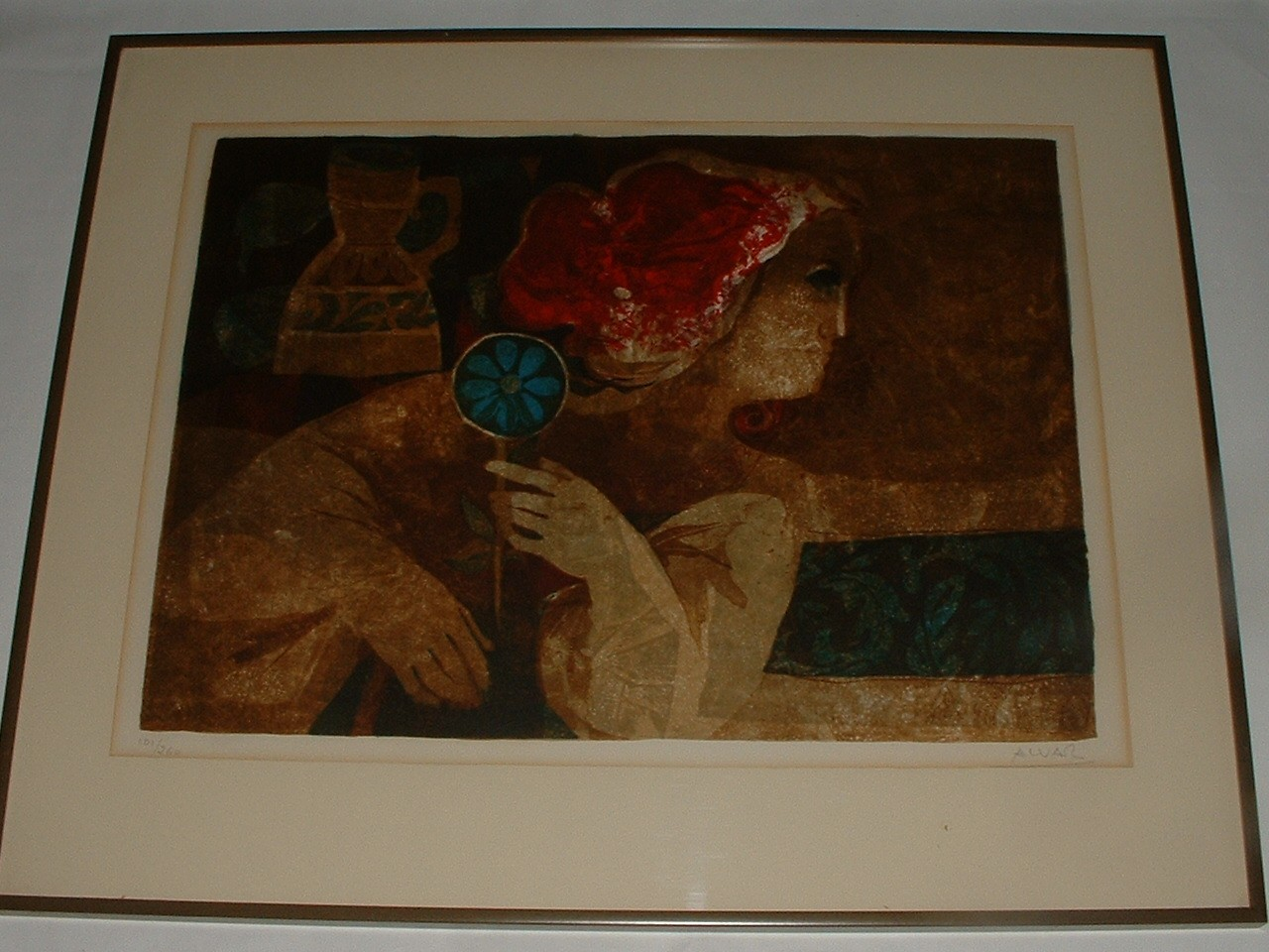 Vintage Lithograph by Well Listed Artist Alvar