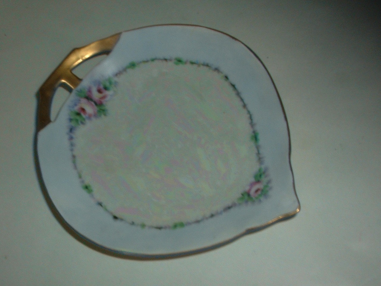 Vintage Bavaria Porcelain Shallow  Pin Tray Earring Bowl
