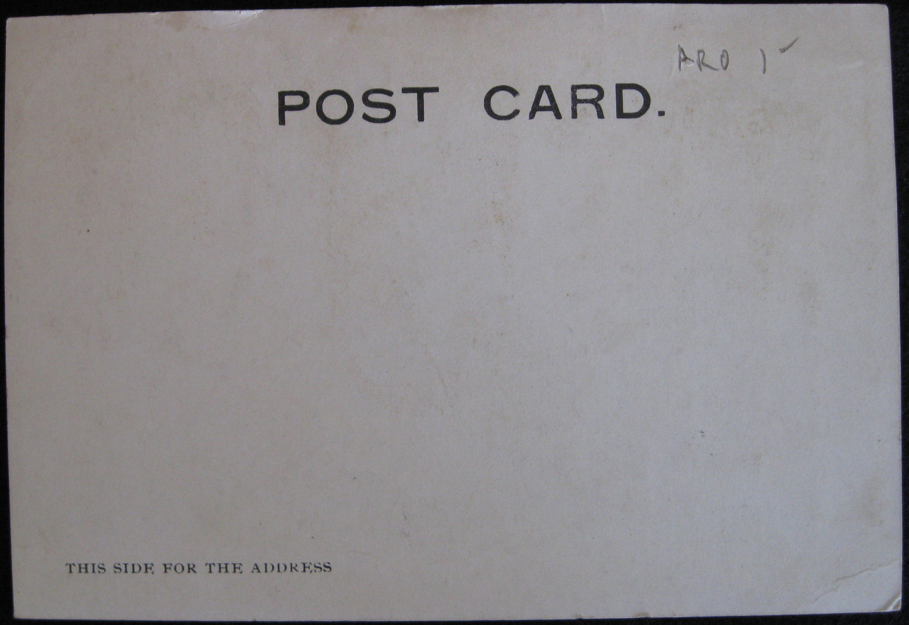 Antique, Novelty, Large Letter Card, Frisco, outlined in glitter, 1905.