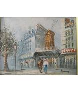 Vintage Oil on Canvas Paris Cityscape Painting by Artist Burnett - $150.00