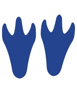 LiteMark Blue Removable Dinosaur Tracks Decal Stickers - Pack of 12 - $19.95