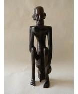 Vintage Hand Carved Wood Sculpture Naked Man - $125.00