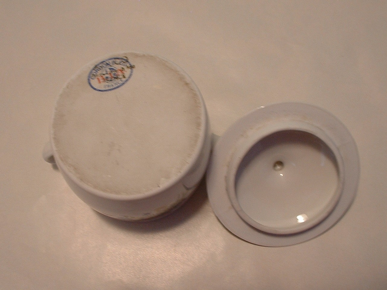Vintage Cordon Bleu BIA French Porcelain Lidded Jar Treasure Box