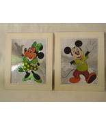 Vintage Unframed Pair of Mickey Mouse & Minnie Mouse Prints - $24.00