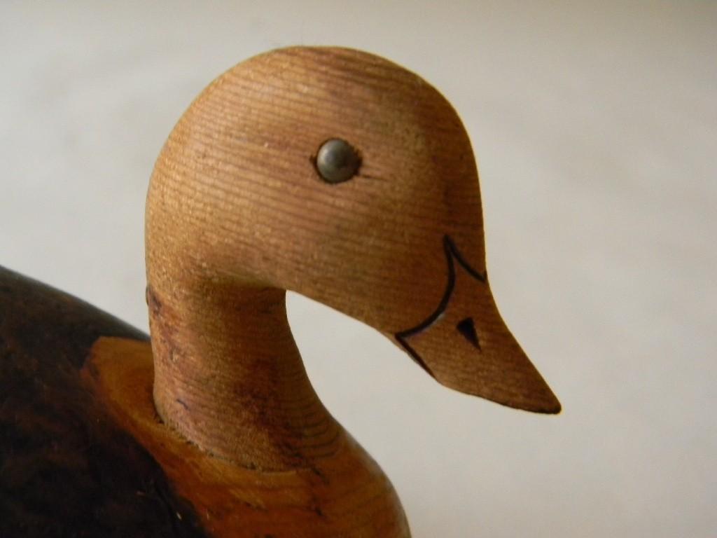 "Vintage ""Ken Harris Decoys , Woodville, NY "" Miniature Wood Duck Decoy"