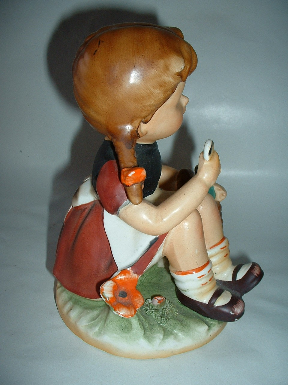 Vintage Large Porcelain Figurine  Child Sitting with Basket E-6280 SIT