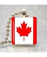 CANADIAN FLAG - CANADA Scrabble Tile Art Pendant Charm - $8.95