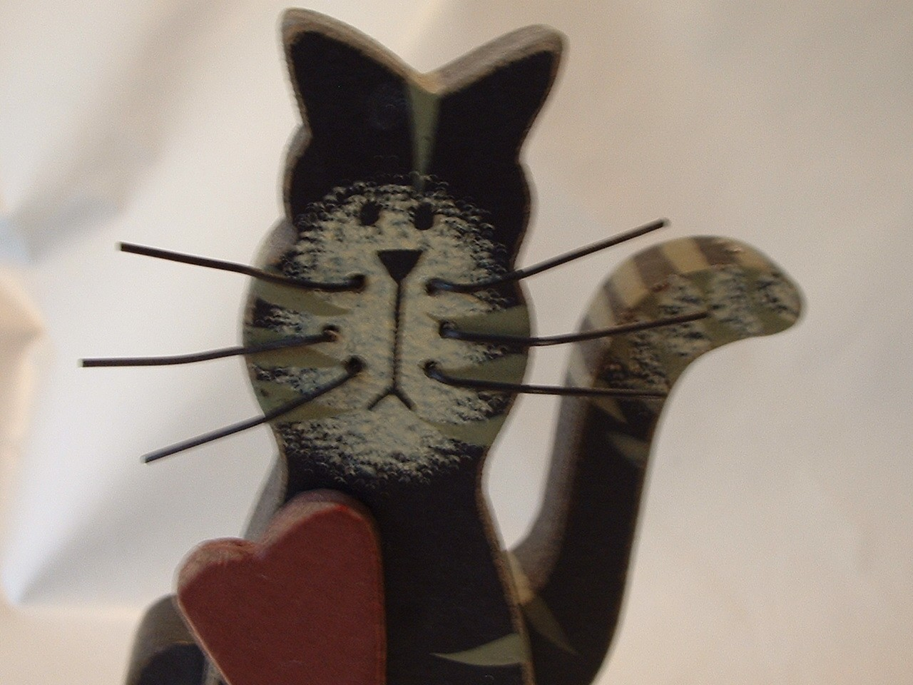 Vintage Cute Wooden Kitty Cat ... You Need ONE More