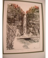 Vintage Wood Cut 3/200 signed by Artist Elizabeth Kay Durand - $175.00