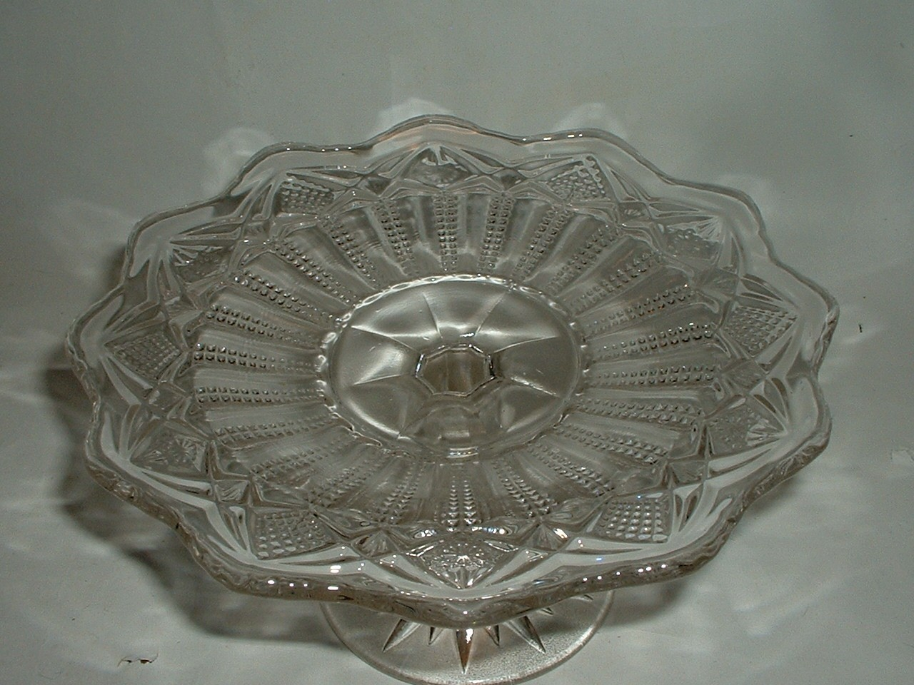 Vintage Glass Compote 7 Inches Wide