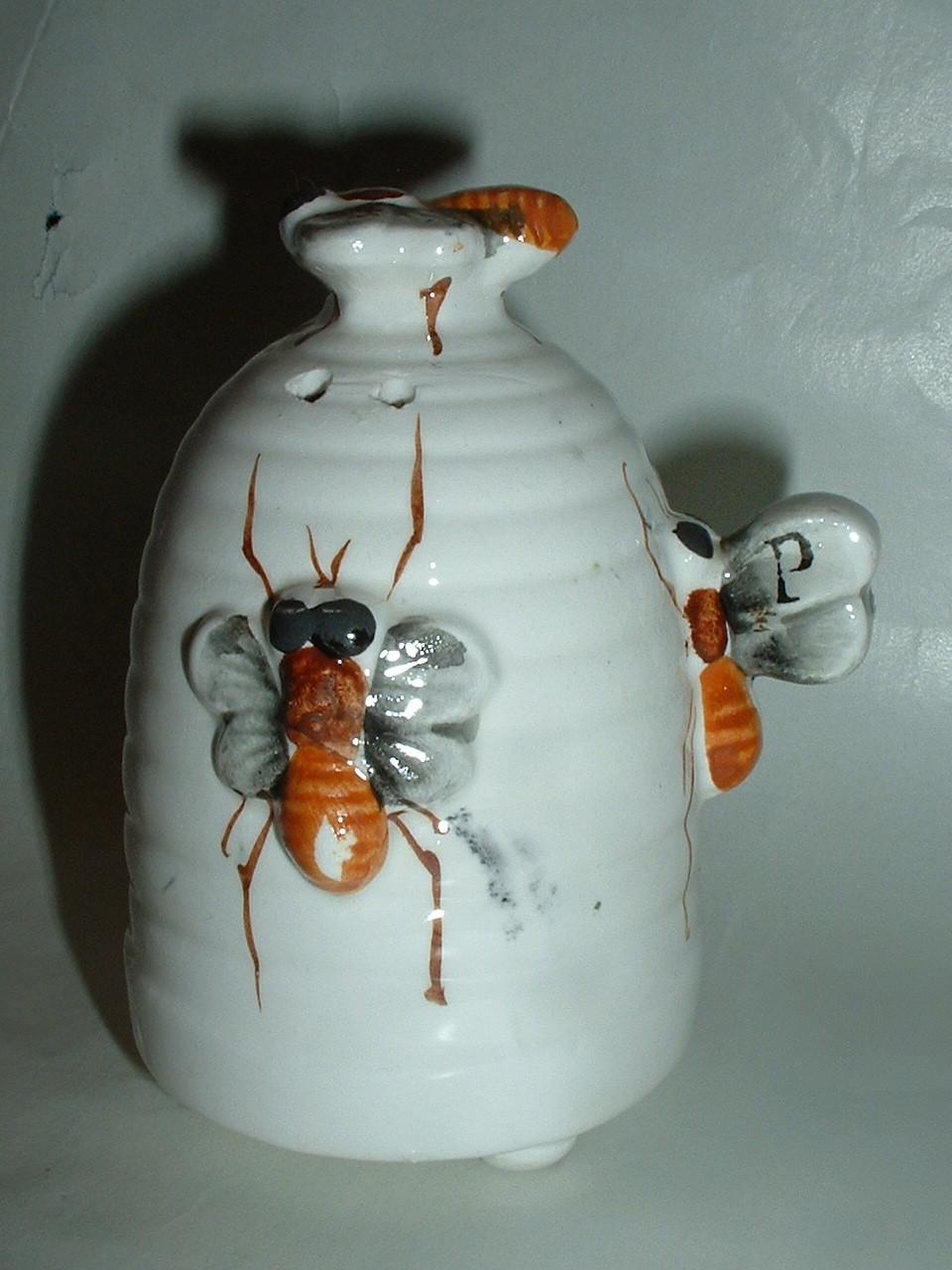 Vintage Bee Hive Salt and Pepper Sakers