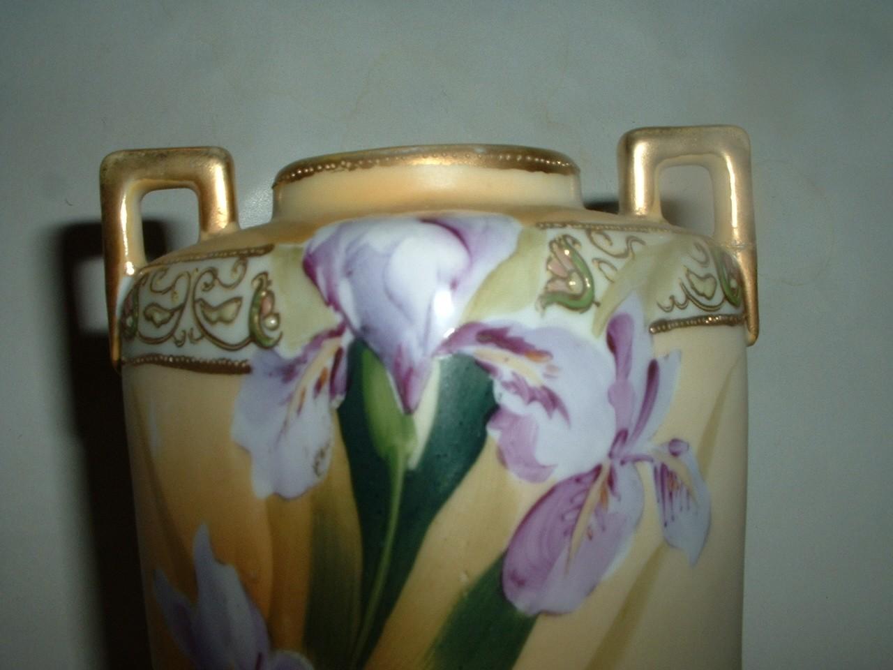 Vintage Hand Painted Nippon 5 3/4 Inch Porcelain Vase