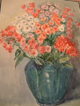 Vintage Matted Still Life by Artist Cornelia Moses - $35.00