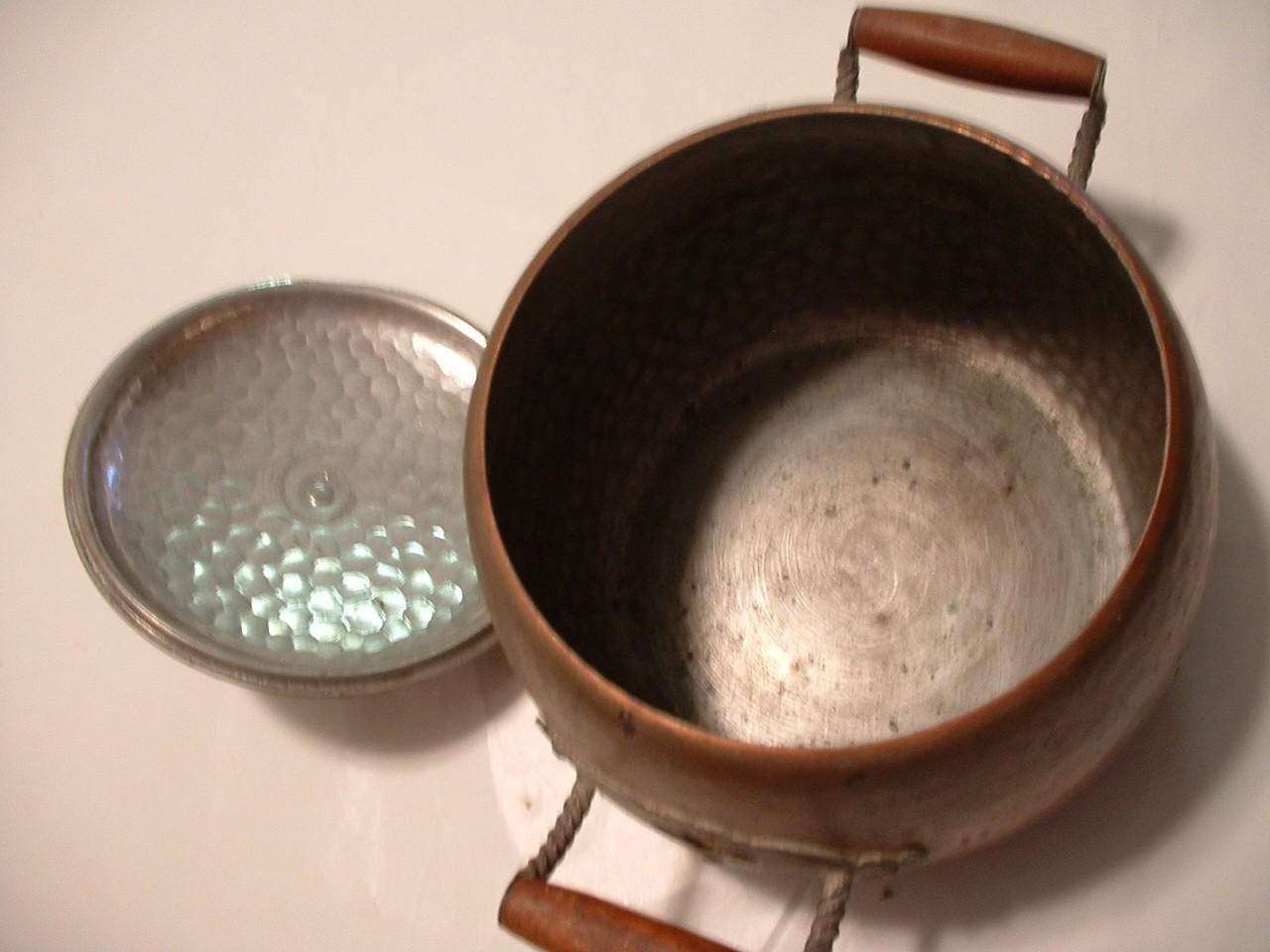 Vintage Antique Copper Kettle Pot with Lid