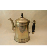 Vintage Silver over Copper Coffee Pot with Wood Handle & Finial - $48.00