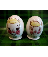 Vintage Gayet California Egg Head Faces Salt and Pepper Shakers Set Coll... - $14.95