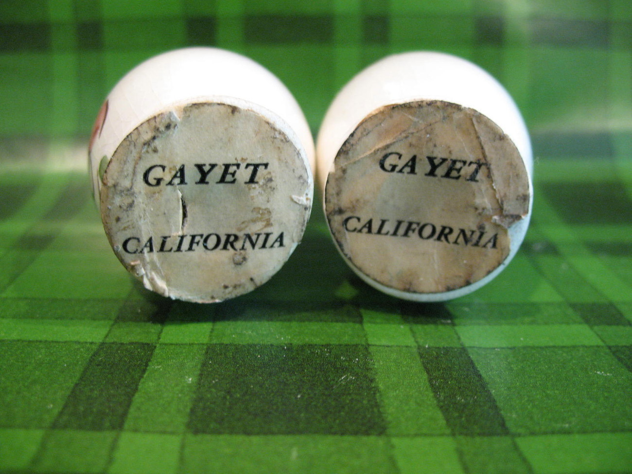Vintage Gayet California Egg Head Faces Salt and Pepper Shakers Set Collector