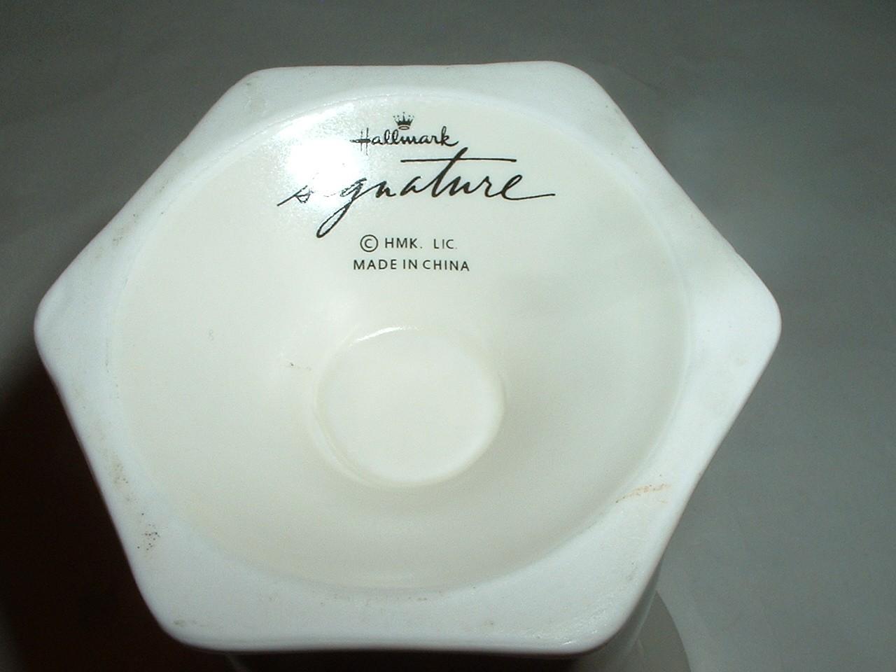 Vintage Hallmark Signature Creamy White Porcelain  Vase