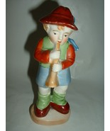 Vintage Porcelain Figurine  Child Playing Musical Instrument - $12.00