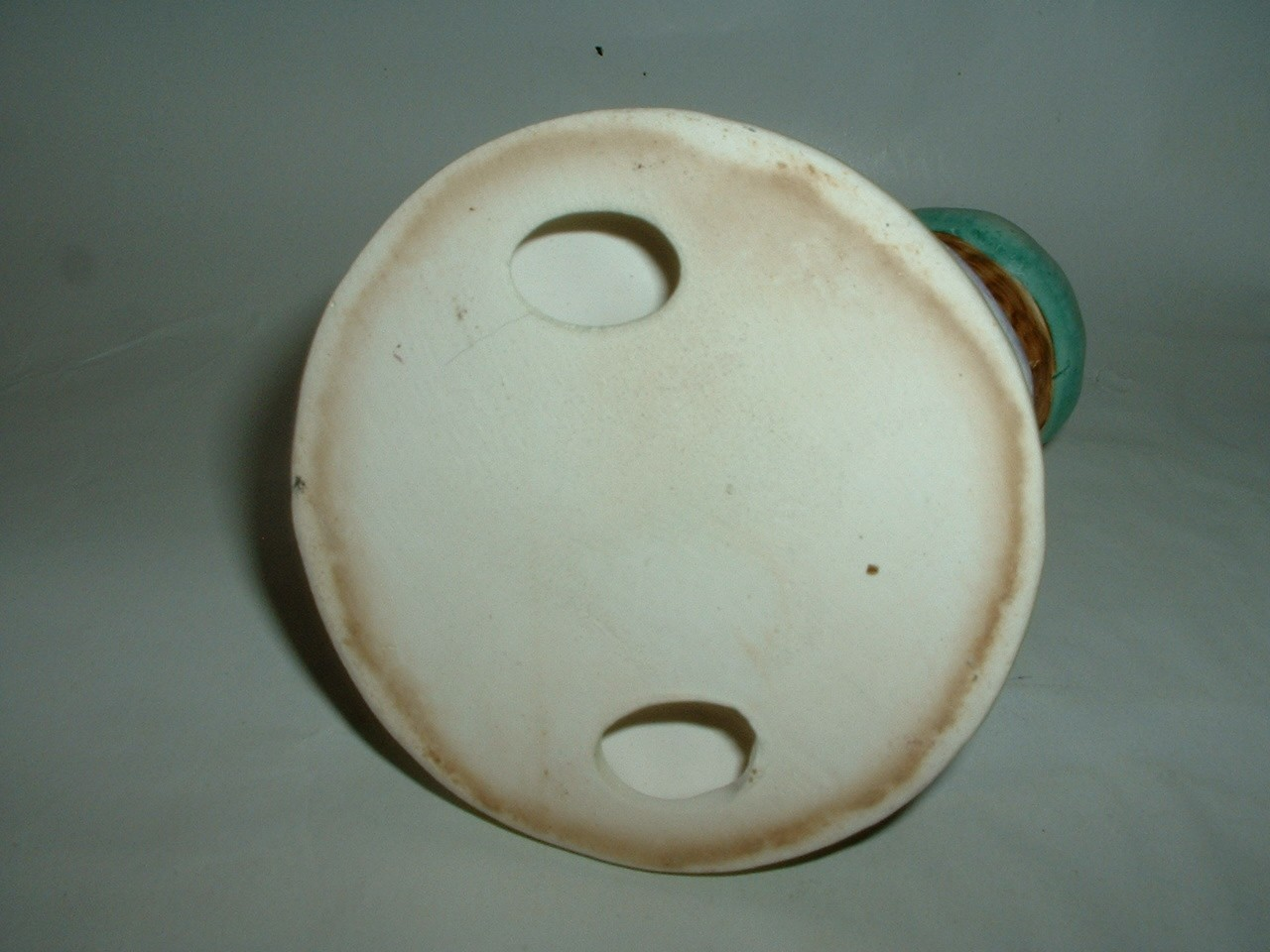 Vintage Ceramic Child Figurine Playing a Banjo