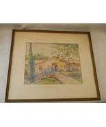 Vintage 1930 Watercolor by Artist M S Wiggins - $150.00