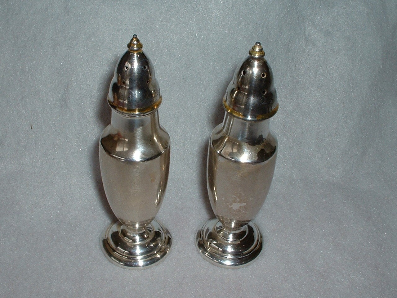 Elegant Vintage Silverplate Salt and Pepper Shakers