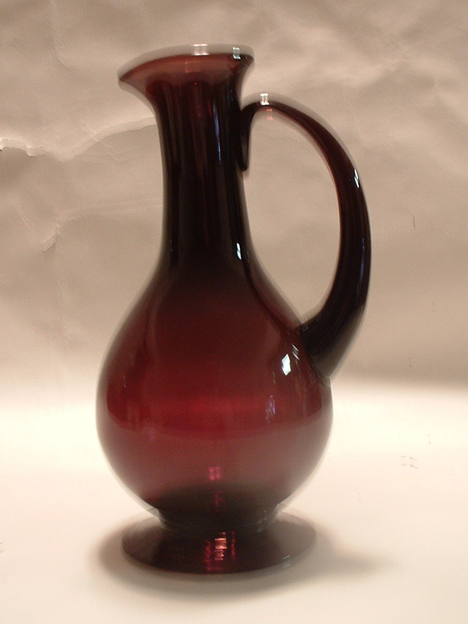 Vintage Art Glass Handmade Studio Vase / Pitcher / Ewer