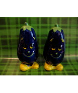 Anthropomorphic Vintage Eggplants Salt and Pepper Shakers Set Collector  - $14.95