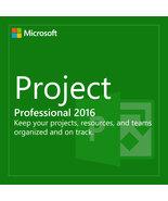 5PC MICROSOFT PROJECT PRO 2016 PRODUCT CODE KEY LICENSE KEY PC DOWNLOAD USA UK - $39.95