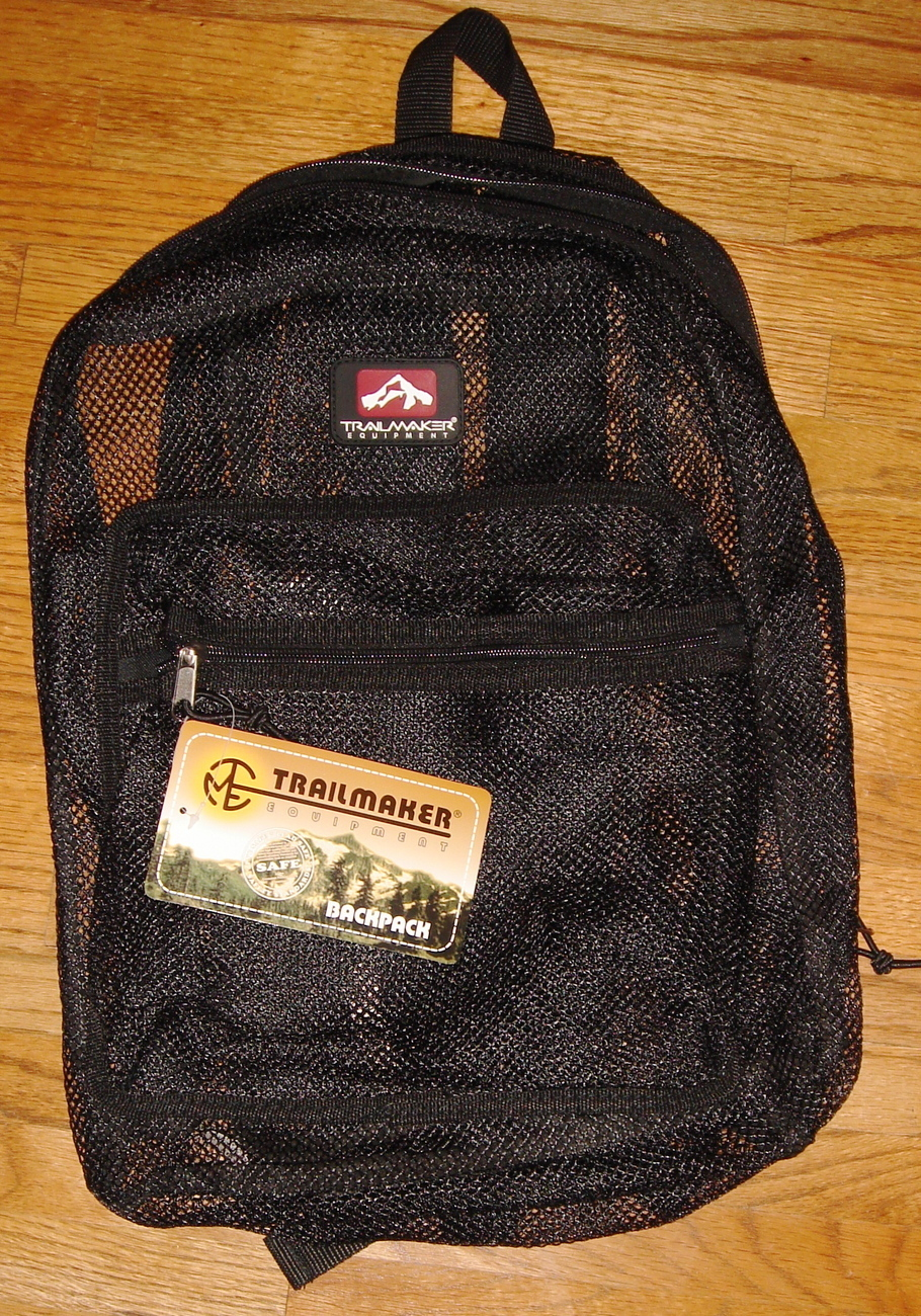 Primary image for Black Mesh Backpack by Trailmaker Equipment ~ NEW ~