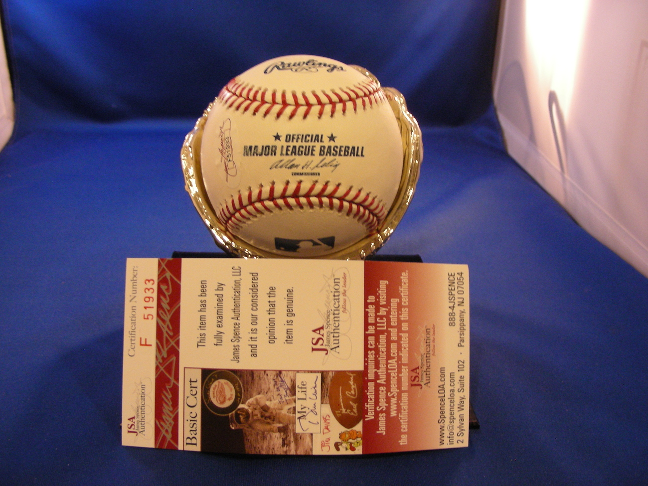 "DAVID PRICE ""GAVE UP JETER'S 3000 HIT"" SIGNED BASEBALL JSA"