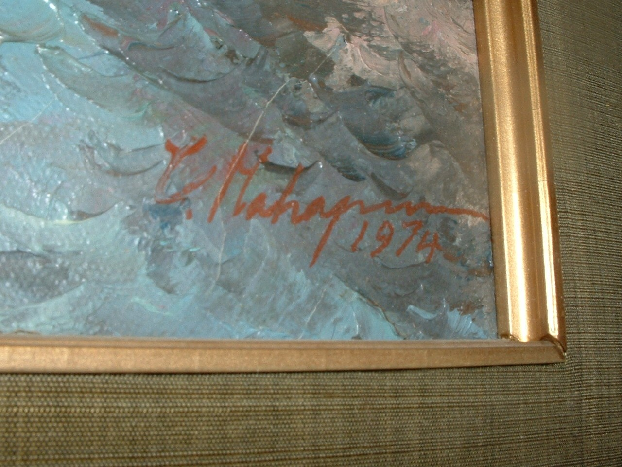 Vintage Oil on Canvas Painting signed by Artist