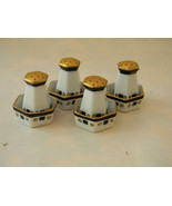 Vintage Porcelain 4 Open Salts and 4 Shakers - $28.00