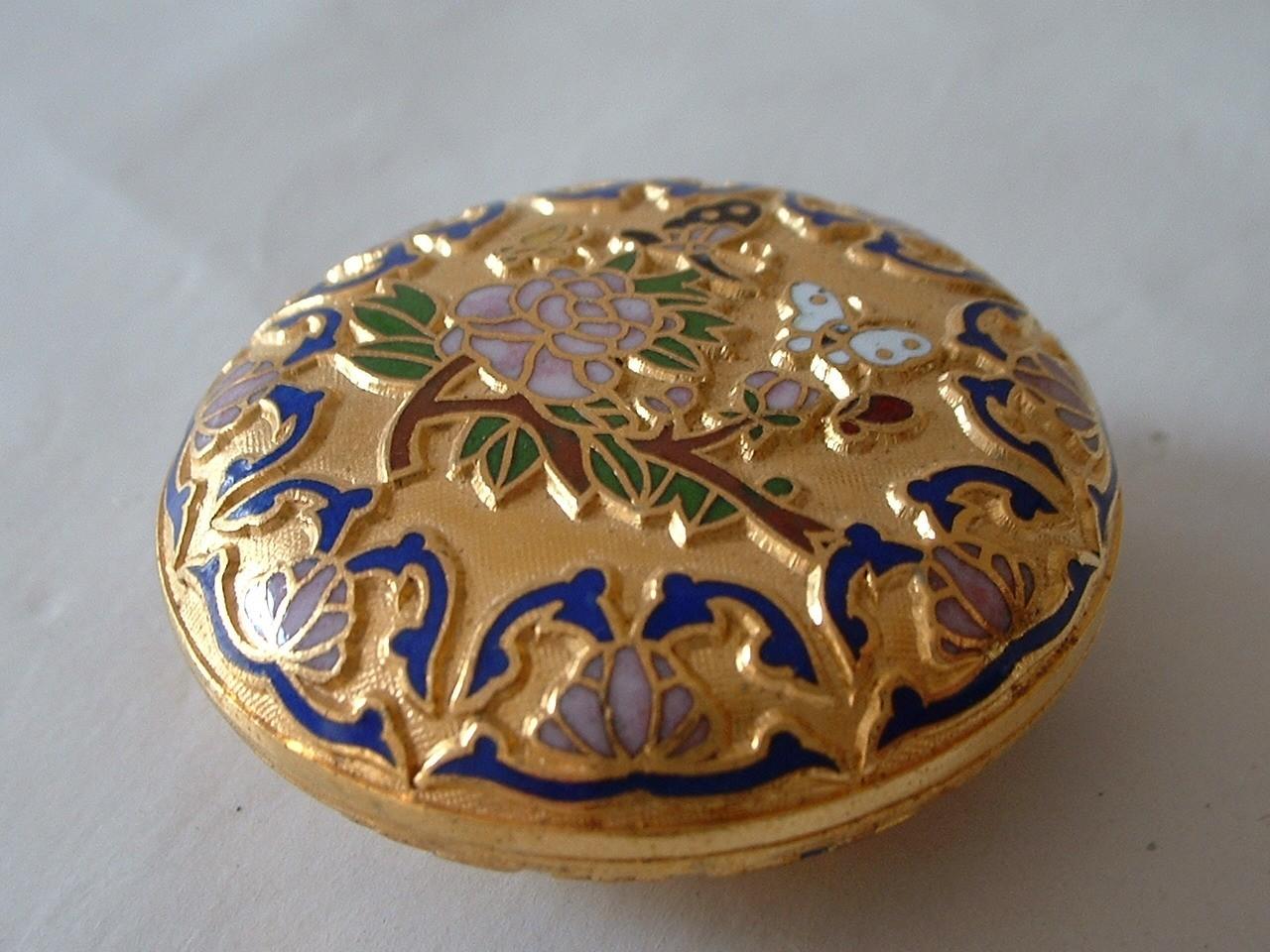 Vintage Mint Condition Cloisonne Box