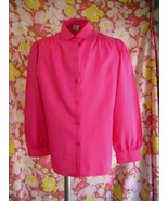 Beautiful Vintage Blouse Hot Pink..WOW - $30.00