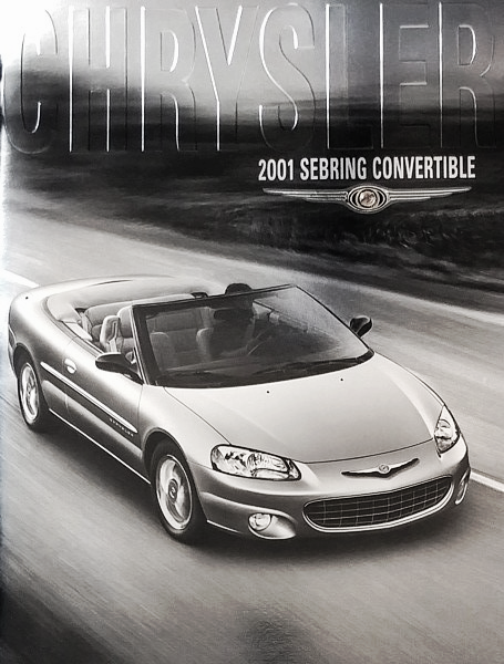 2001 chrysler sebring convertible brochure and 50 similar items bonanza