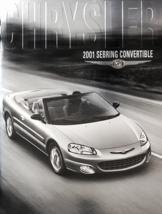 2001 Chrysler SEBRING CONVERTIBLE brochure catalog US 01 LX LXi Limited  - $8.00