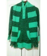 Derek Heart Girl marled hoodies acrylic tunic casual sweater with scarf ... - $10.00
