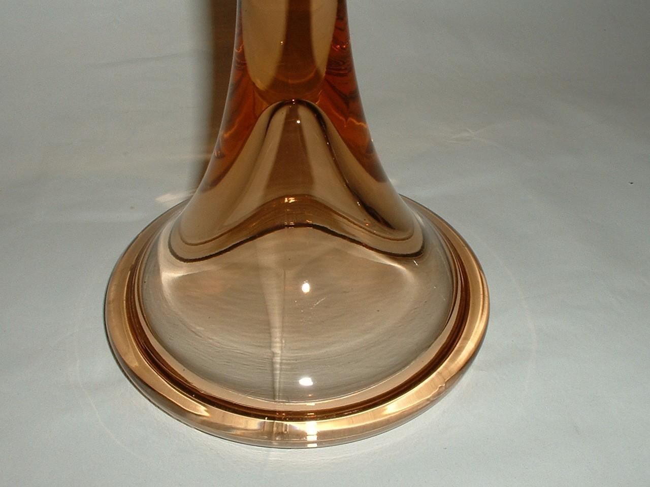 Vintage Heavy Glass 9 1/2 Inch Candlestick Holder