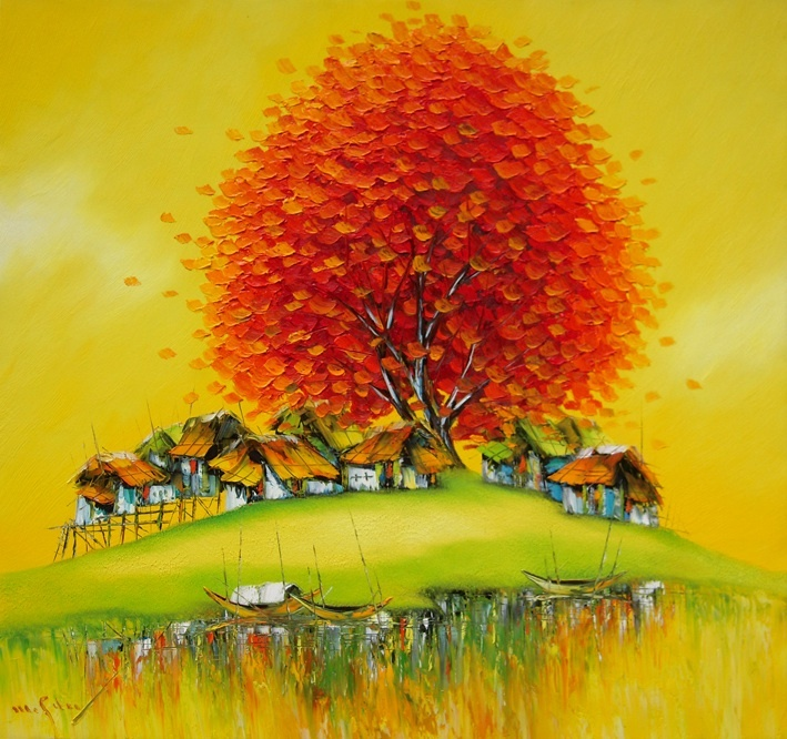 Autumn breeze 90 x 90 cm