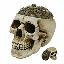 Pacific Giftware Steampunk Gear Skull Box Container Home Tabletop Decorative Res - $28.51