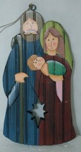 Dicksons CHO 312 Mary Joseph Baby Jesus Wood Christmas Ornament 3 Set image 2