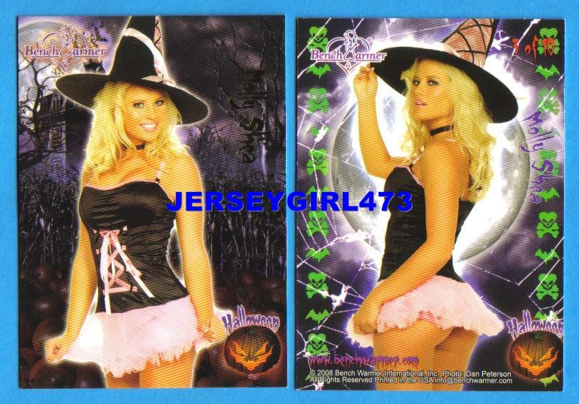 Sexy Molly Shea 2008 Bench Warmer Limited Halloween Foil Insert Card #3