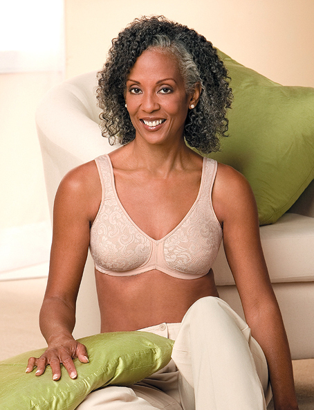NEW AMOENA MASTECTOMY BRA MICROFIBER 2146 34A $50 L and R Other