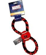 Buckle-Down Marvel DEADPOOL 11 in. Tennis Ball Squeaky Rope Tug Dog Toy - $8.90