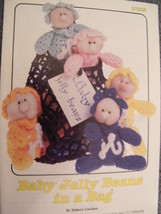 Annies Attic Baby Jelly Beans In A Bag Crochet Pattern 1987 Vintage Just Adorabl - $9.00