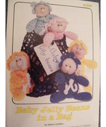 ANNIES ATTIC BABY JELLY BEANS IN A BAG CROCHET PATTERN 1987 VINTAGE JUST... - $9.00