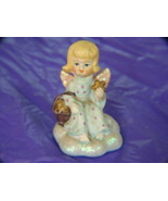 VINTAGE Toddler Girl Angel w/Basket of Stars - $7.50