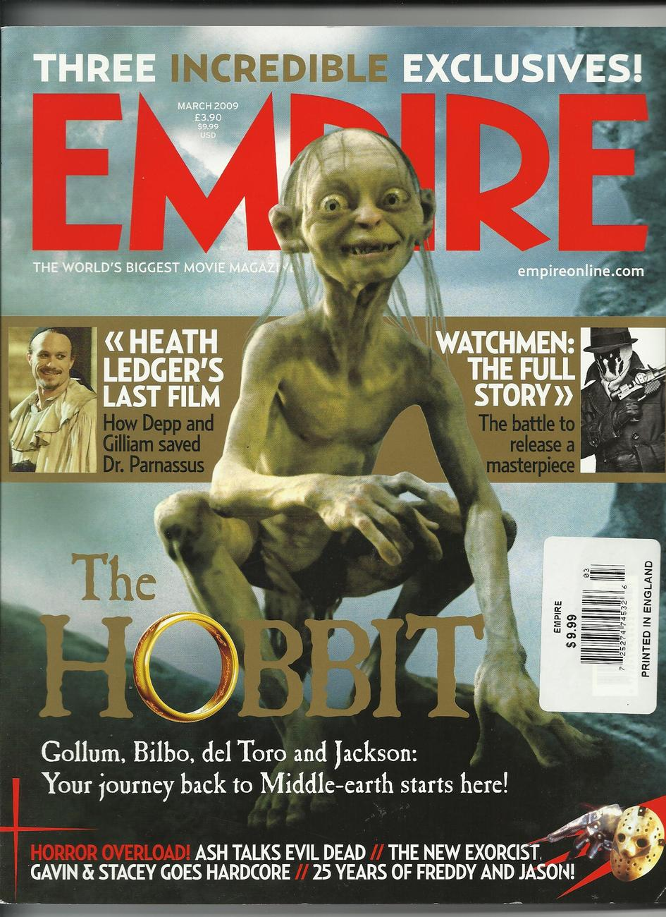 Empire March 2009 THE HOBBIT movie Heath Ledger MORE